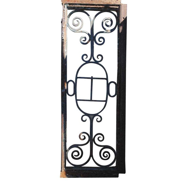 Wrought Iron Door Transom Window For Sale - Image 5 of 6