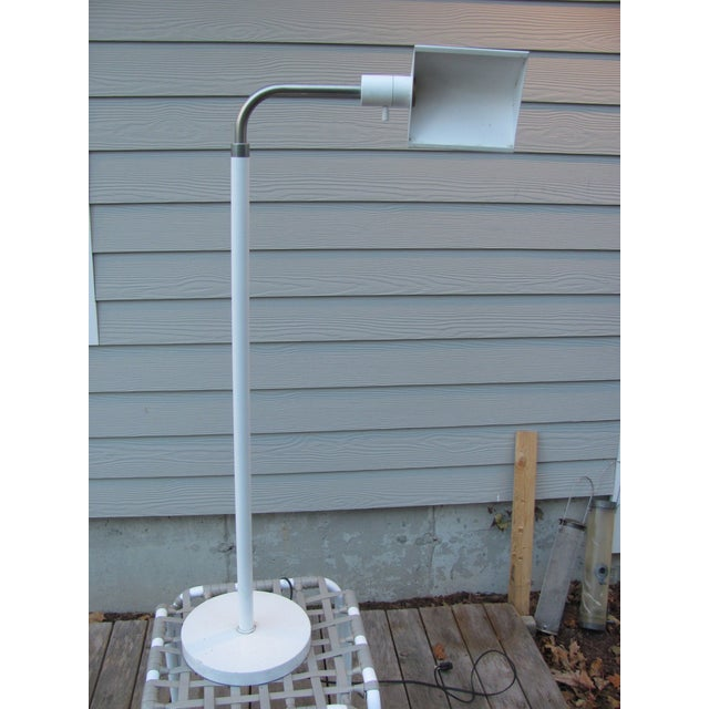 Uncommon lighting by Argentine designer J. Mendizabal. This is an adjustable height floor lamp by J Mendizabal for...