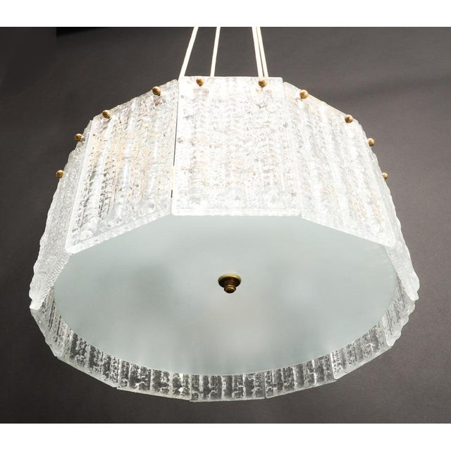 Carl Fagerlund for Orrefors Chandelier - Image 5 of 8