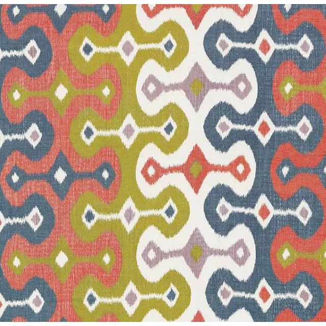 Boho Chic Martyn Lawrence Bullard for Schumacher Ikat Pillow Covers - a Pair For Sale - Image 3 of 4