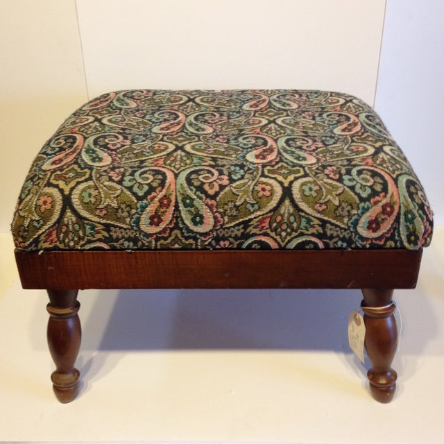 Vintage Electric Warming Ottoman - Image 2 of 4