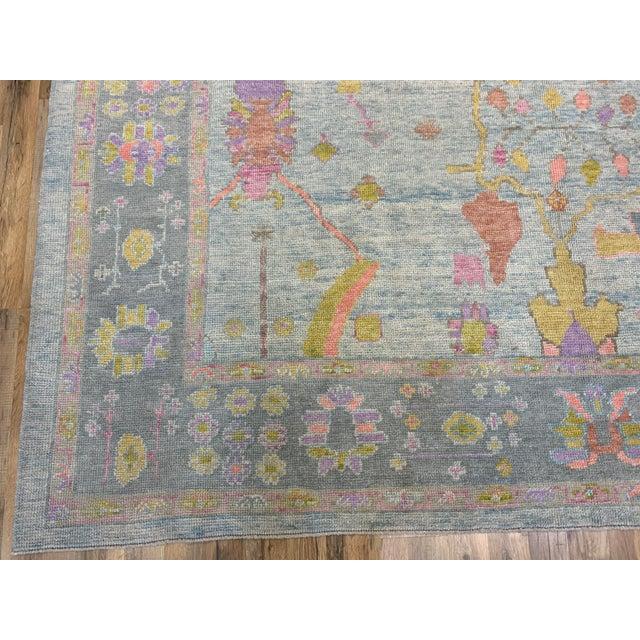 Textile Turkish Oushak Rug For Sale - Image 7 of 8