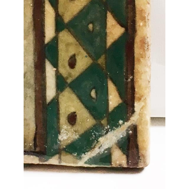 """""""The Hunter"""" Antique Hand Painted Persian Tile For Sale In New York - Image 6 of 7"""