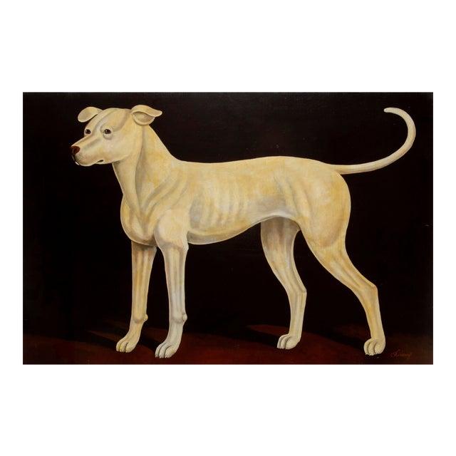 William Skilling, Irish Hound Dog, Oil on Canvas, Signed For Sale