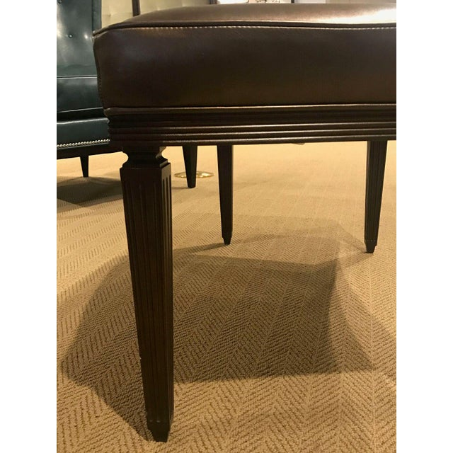 Hickory Chair Furniture Company Hickory Chair Rembrandt Curved Bench For Sale - Image 4 of 7