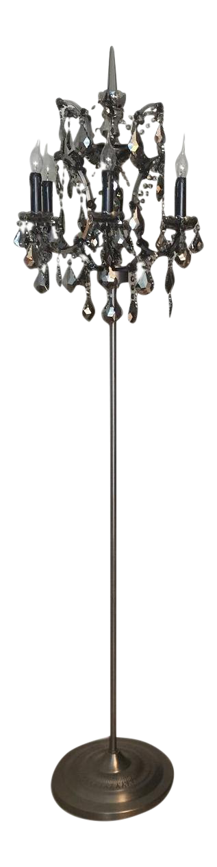 Picture of: Restoration Hardware Rococo Iron Crystal Floor Lamp 2 Available Chairish