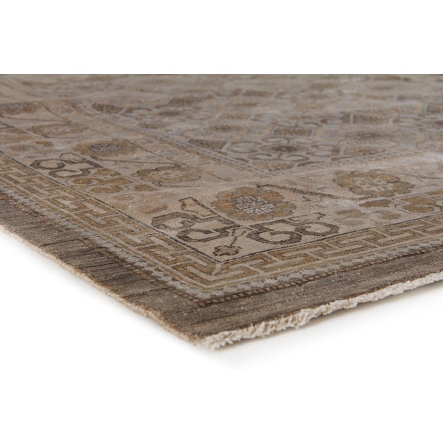 Simple and yet elegant, the Khotan rug is a stylish choice for any room. Hand knotted with 100% New Zealand Wool, the...