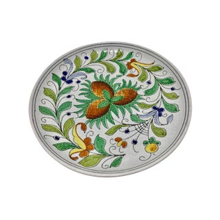 1950's Fratelli Fanciullacci for Bitossi Italian Modernist Floral Ceramic Dish For Sale