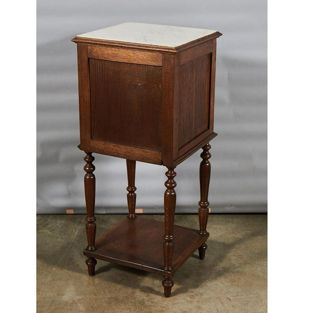 Wood Henry II Style Night Stand For Sale - Image 7 of 8