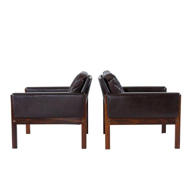 Pair of Hans Wegner AP 62 Lounge Chairs For Sale - Image 4 of 10