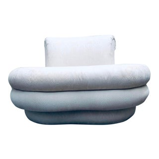 """1980s Vintage Adrian Pearsall for """" Comfort Designs Curved Cloud Loveseat For Sale"""