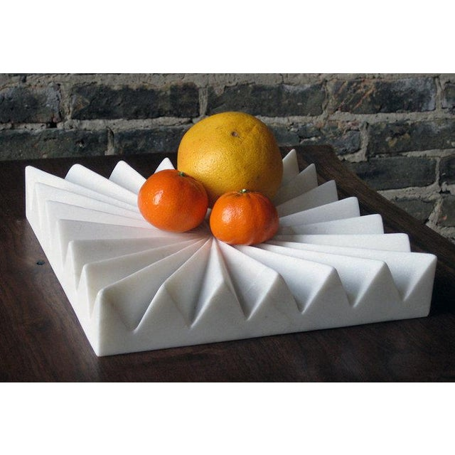 Akmd Collection | Marble Fruit Tray For Sale - Image 4 of 4