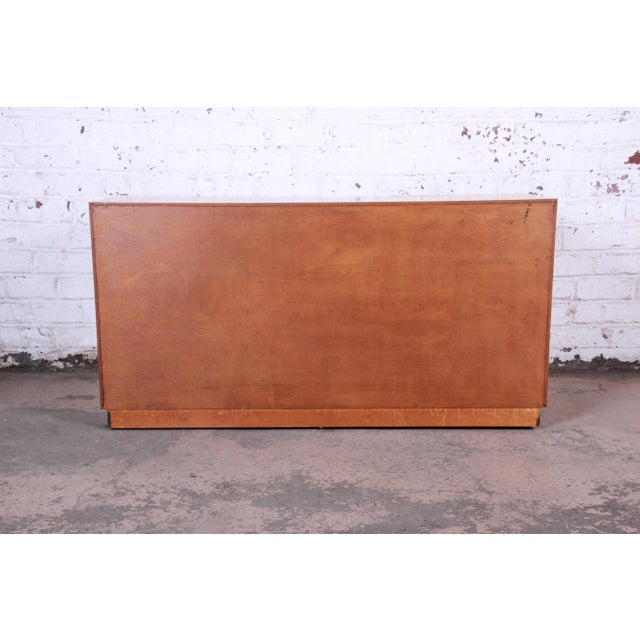 Milo Baughman Burled Olive Wood Sideboard Credenza, Newly Refinished For Sale - Image 10 of 11