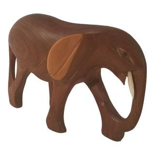 Vintage Wooden Carved Elephant