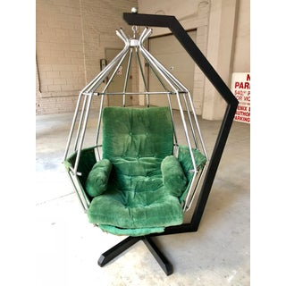 Mid Century Modern Ib Arberg Parrot Chair Hanging Birdcage Chair Preview