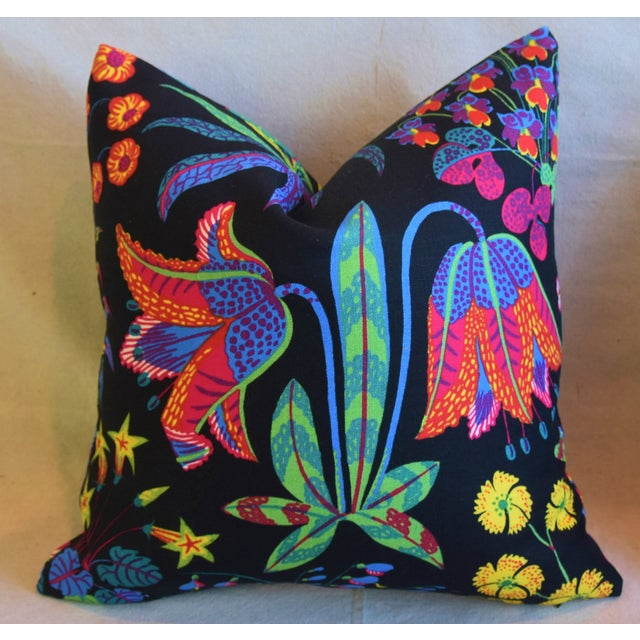 "Early 21st Century Designer Josef Frank ""Under Ekatorn"" Floral Linen Feather/Down Pillows 18"" Square - Pair For Sale - Image 5 of 11"
