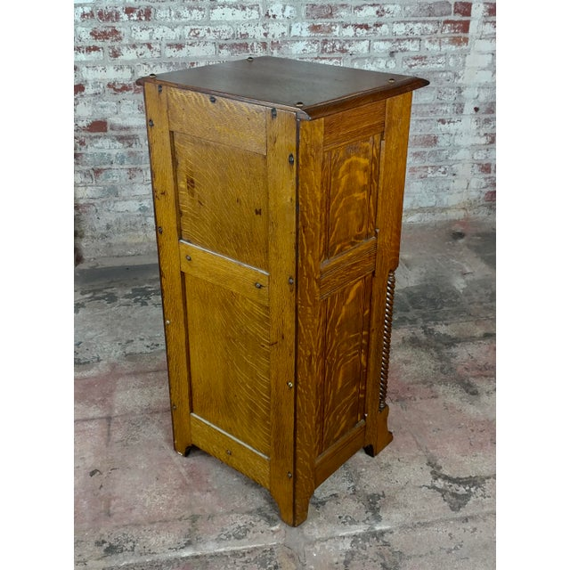 Late 19th Century Antique Victorian Oak Cabinet W/Hidden Jewelry Safe -Rare For Sale - Image 5 of 11