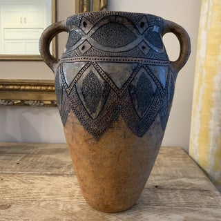 Tall Signed Mid Century Art Pottery Two Handled Vase Preview