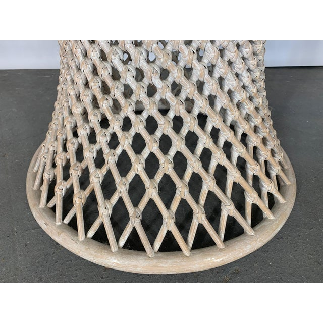 Woven Rattan Sculptural Dining Table For Sale - Image 4 of 5
