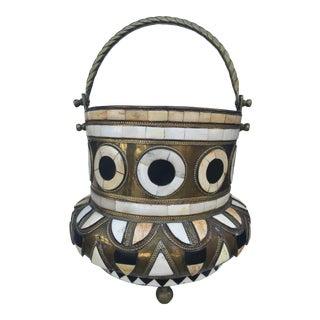 Bone & Horn Brass Pot