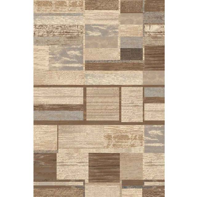 "Contemporary Brown Neutral Rug - 5'3"" X 7'7"" For Sale - Image 3 of 5"