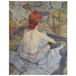 """Toulouse Lautrec Rare Vintage 1952 Limited Edition French Lithograph Print """" Jeune Femme Accroupie De Dos """" 1986 For Sale"""