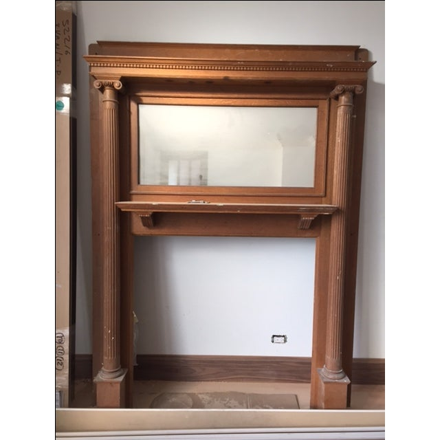 American Victorian Fireplace Mantel - Image 2 of 6
