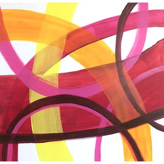 'Merengue' Original Abstract Painting by Linnea Heide For Sale