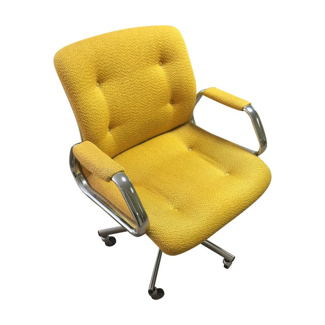 Vintage Steel Case Office Chair - Image 1 of 3