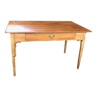 French Scrubbed Pine Dining Table or Desk For Sale