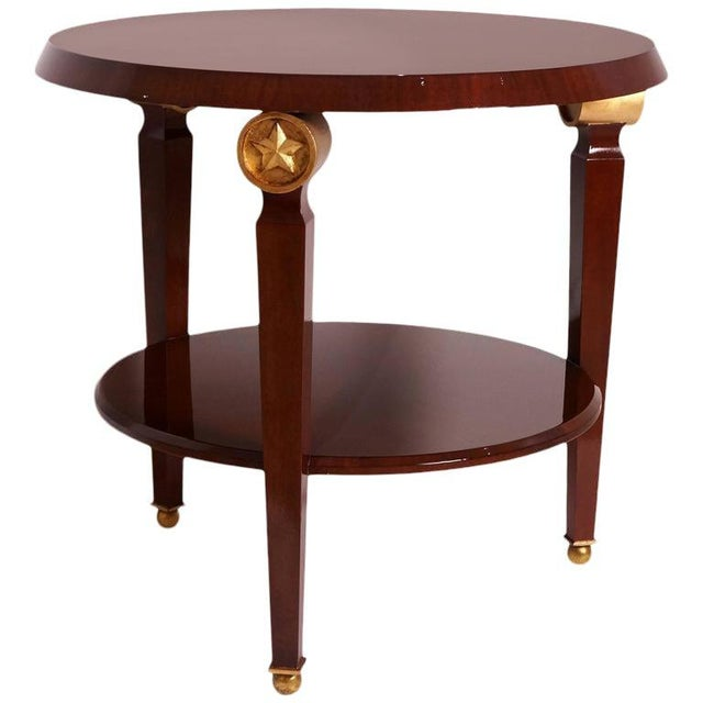 Mid-Century Maison Jansen Style Center Table Tiered Mahogany For Sale - Image 11 of 12