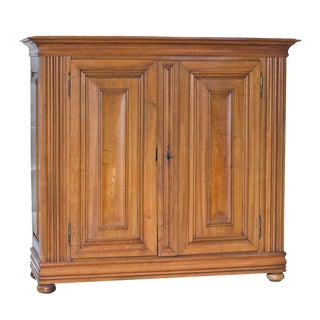 Continental Walnut Cabinet Armoire For Sale