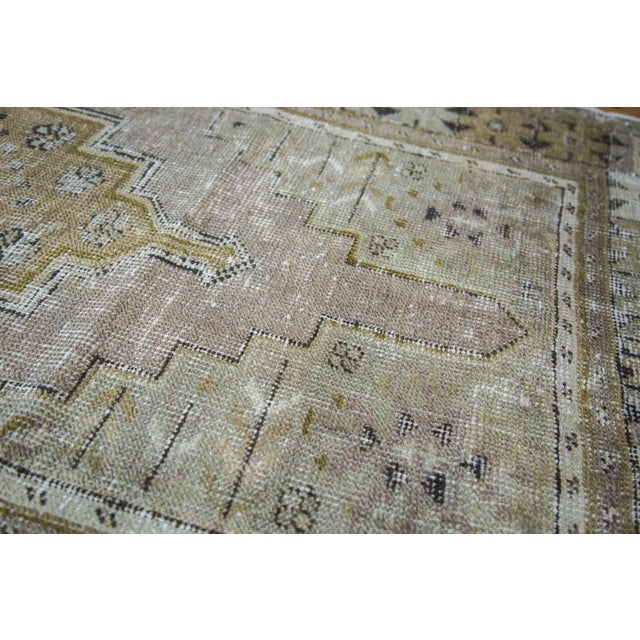 "Distressed Oushak Rug Runner - 3'5"" x 5'9"" - Image 2 of 5"