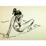 Image of Nude Female Reclining For Sale