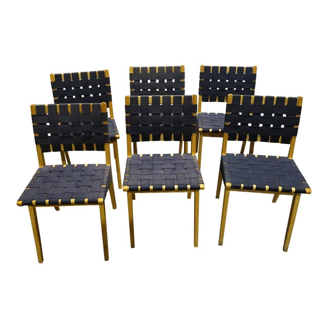 Knoll Risom Chairs - Set of 6 - Image 1 of 8