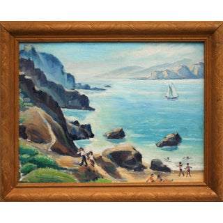 Beach Day Golden Gate Painting For Sale