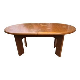 Danish Modern Teak Skovby Expandable Dining Table For Sale