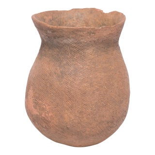 African Terracotta Storage Vessel For Sale