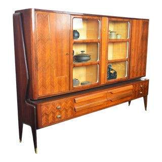 Italian Modern Rosewood Bookcase by Vittorio Dassi For Sale