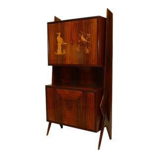 1950s Ico Parisi Italian Rosewood Cabinet For Sale