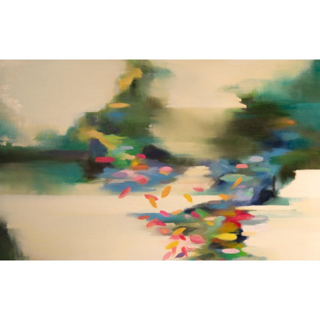 Abstract Liz Dexheimer Meditation Series Burst Abstract Landscape Painting For Sale - Image 3 of 4