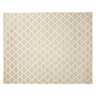 Stark Studio Contemporary Linen Soumak Linen Rug - 9′ × 11′10″ For Sale