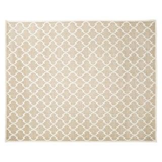 Stark Studio Contemporary Linen Soumak Linen Rug - 9′ × 11′10″ For Sale