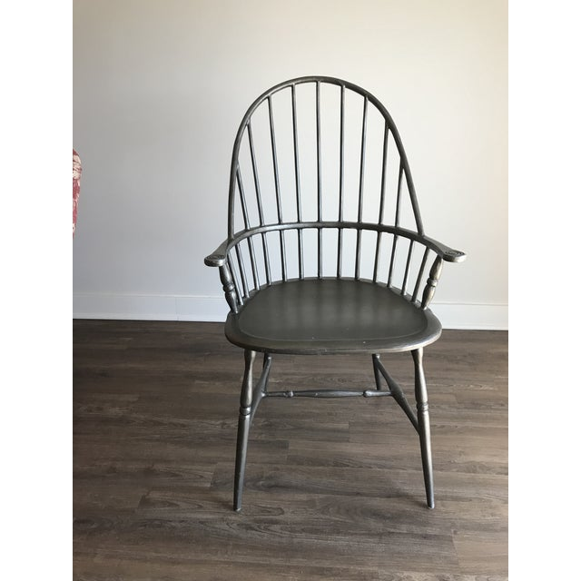 Modern Windsor Metal Armchair For Sale In Chicago - Image 6 of 6