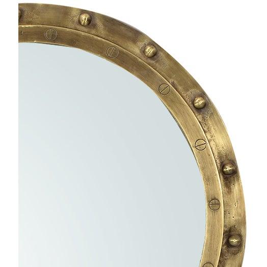 Industrial Brass Rivet Mirror - Image 2 of 2