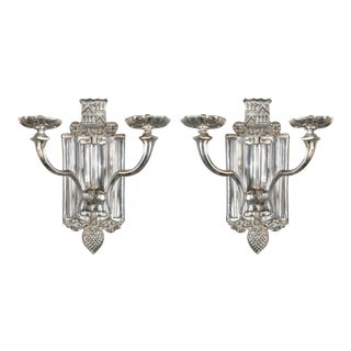 1920s Caldwell Silver Sconces - a Pair For Sale