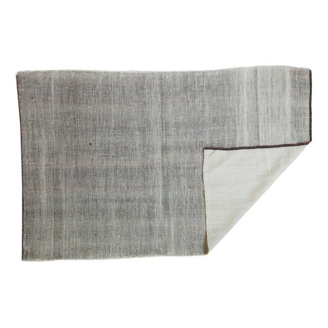 "Vintage Flatwoven Reversible Wool Rug - 4'2"" X 6'5"" For Sale"