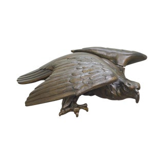 A. Zele Signed Large Bronze Patina Plaster Eagle Sculpture