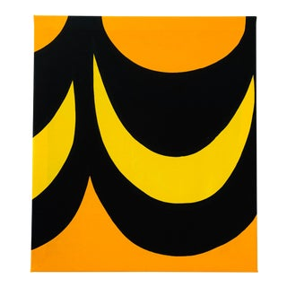 1960's Marimekko Stretched Fabric Wall Hanging Print For Sale