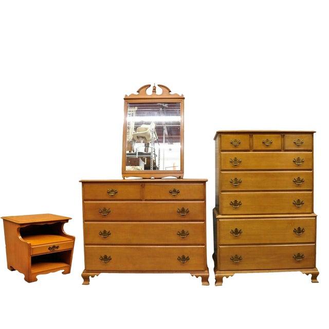 Vintage Beals Maine Rock Maple Bedroom Set With Dresser Chest